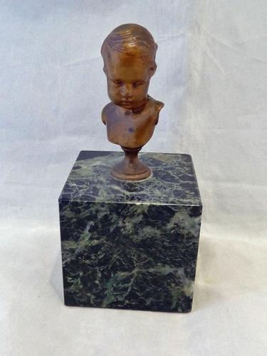 Alexandre Auguste Caron Gilded Bronze Study of a Child - 19Thc , French - Free Uk Postage (1 of 6)