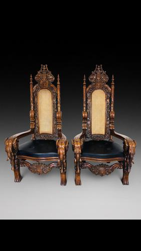 Burmese Throne Chairs (1 of 3)