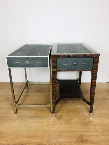 Shagreen Covered Side Tables (1 of 5)