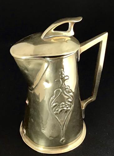 Arts and Crafts Brass Jug (1 of 5)