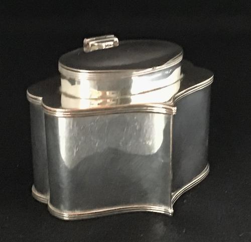 Antique Silver Plate On Copper  Tea Caddy (1 of 5)