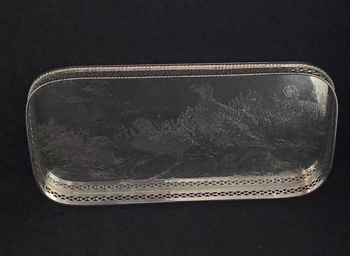 Silver Plated Famous Grouse Whiskey Tray (1 of 4)
