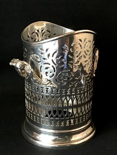 Walker and Hall Silver Plated Bottle Holder (1 of 4)