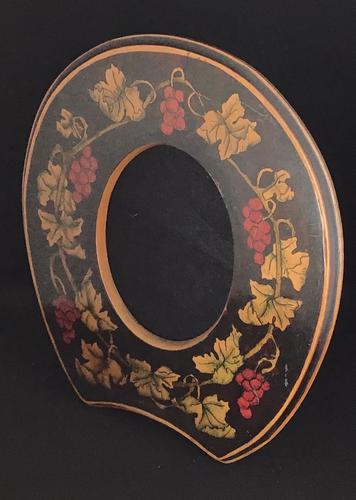 Arts and Crafts Wooden  Penwork Easel Photo Frame (1 of 4)