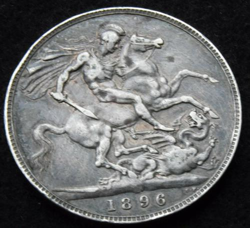 1896 Queen Victoria Veiled Head Silver Crown Coin (1 of 2)