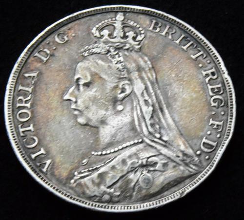 1892 Queen Victoria Jubilee Head Silver Crown High Grade Coin (1 of 2)