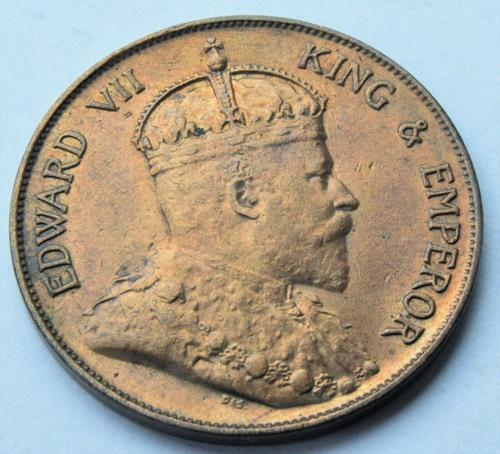 1905 Hong Kong King Edward VII 1 Cent High Grade Coin (1 of 2)