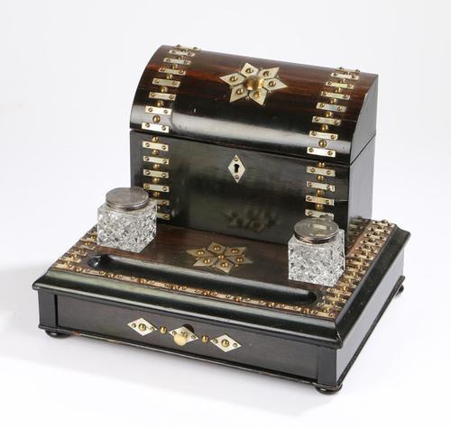 Impressive Antique Coromandel Desk Stand (1 of 7)