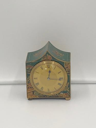 Antique French Green Chinoiserie Mantel Clock (1 of 7)