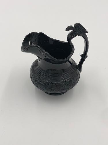 Unusual Antique Black Basalt Pottery Milk Jug (1 of 5)