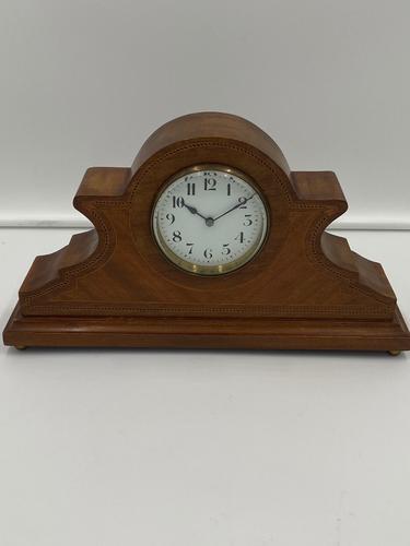 Antique Edwardian Mahogany Desk / Mantel Clock (1 of 4)