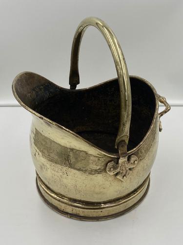 Antique Brass Coal Scuttle (1 of 6)