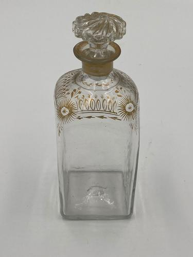 Unusual Antique Gilt Decorated Decanter (1 of 4)