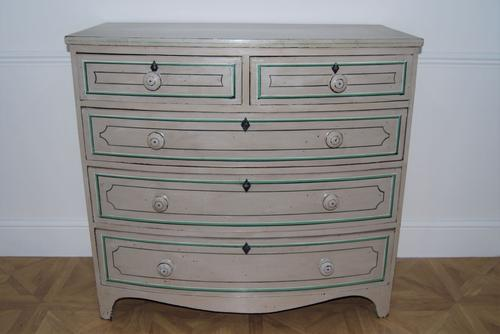 Painted Victorian Bow Front Chest of Drawers (1 of 4)
