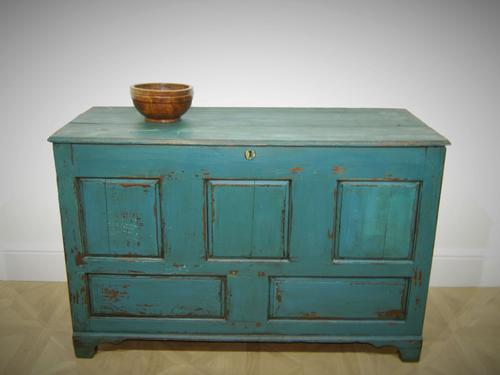 18th Century Painted Oak Coffer (1 of 5)
