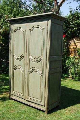 Painted French Oak Armoire c.1790 (1 of 5)