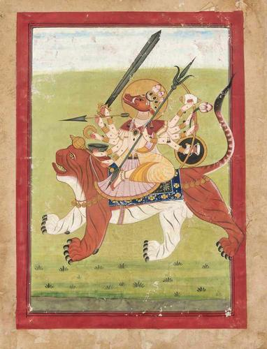 Goddess Durga Riding on a Tiger c.1870 (1 of 1)