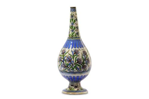 Large Polychrome-Painted Pottery Vase Iran, 19th Century (1 of 6)
