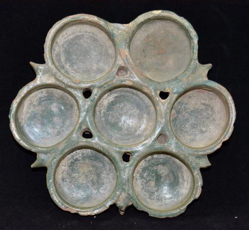 Turquoise Glazed Lamp 12th Century Kashan (1 of 3)