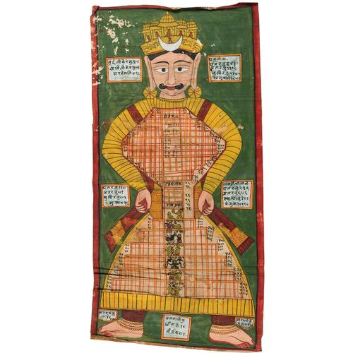 Jain Painted Cloth Hanging, Western India,  Late 19th Century (1 of 1)