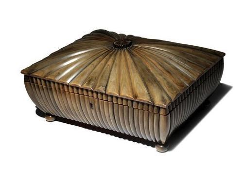 19th Century Indian Horn & Sandalwood Box (1 of 1)
