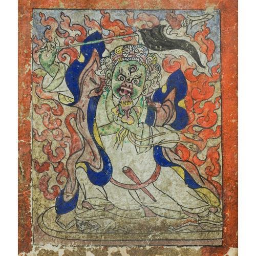 Tsakli Depicting a Dharmapala, Tibet, 19th Century (1 of 2)