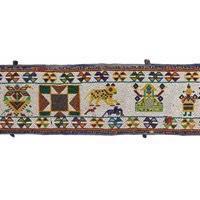 Long Beadwork Panel, Gujarat, Western India, First Half 20th Century (1 of 4)