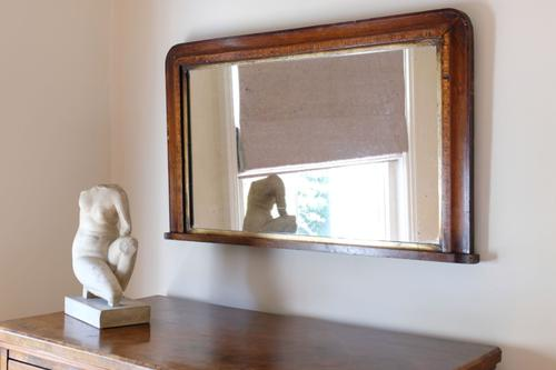 Edwardian Overmantle Mirror with Inlaid Detail Around the Frame (1 of 8)