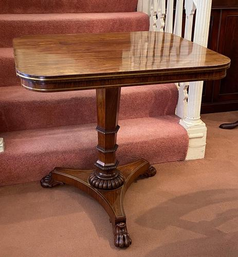 Gillows: Regency Period Rosewood Brass-Inlaid Occasional Table (1 of 4)