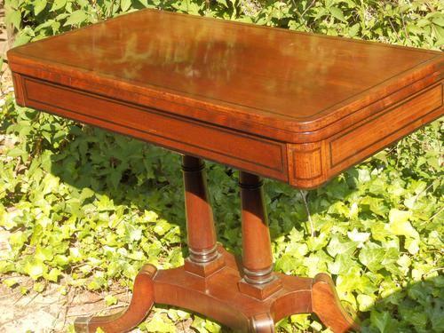 Regency Side Table / Card Table / Games Table (1 of 7)