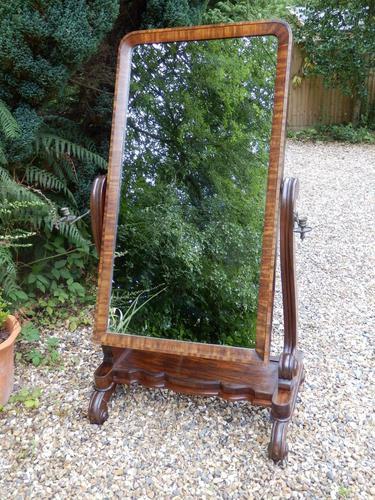 Large Cheval Mirror. Adjustable. Castors (1 of 11)