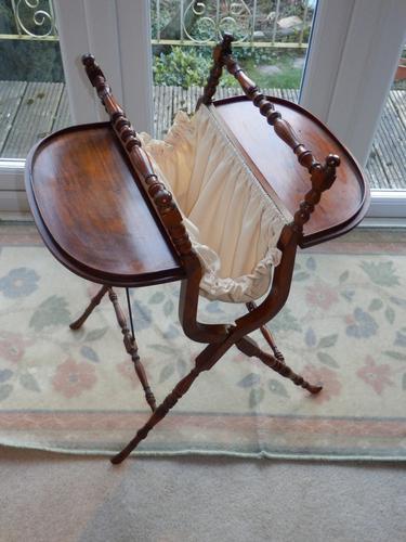 Needlework Table, Folding, Mahogany, Victorian (1 of 8)