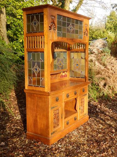 Sideboard, Art Nouveau, Solid Oak (1 of 11)
