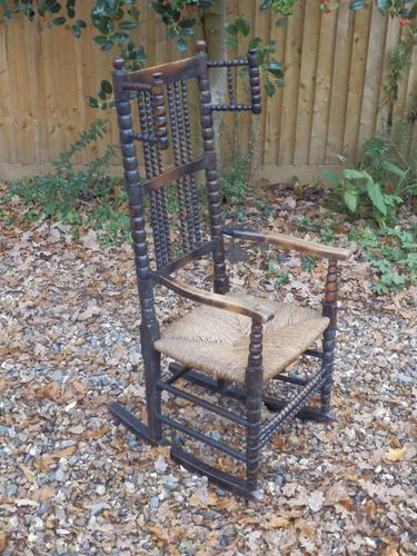 Bobbin Turned, Arts & Crafts Rocking Chair (1 of 8)
