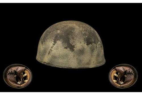 Ww2 World War II British Paratrooper Helmet by Bmb Dated 1945 with the Cross of Lorraine 'Free French' Very RAre Item (1 of 1)