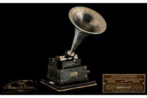 Antique Victorian Edison Gem Wind Up Cylinder Phonograph (1 of 1)