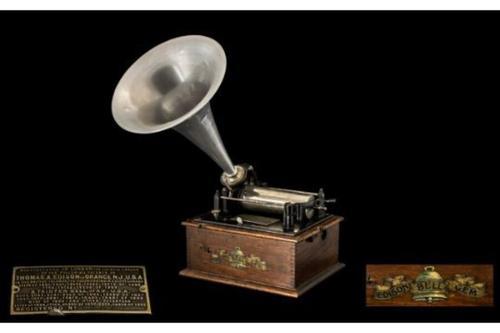 Antique Edwardian RAre Edison Bell Gem Cylinder Phonograph C.1904 / 1905 (1 of 1)