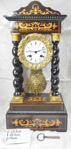 Rare Napoleon III Twisted Column Portico Clock (1 of 12)