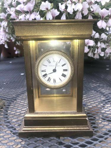 Very RAre Antique Vintage Matthew Norman London Brass Carriage Clock (1 of 5)