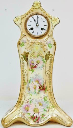 Rare Antique French 8 Day Hand Painted Vintage Sevres Porcelain Mantel Clock (1 of 11)