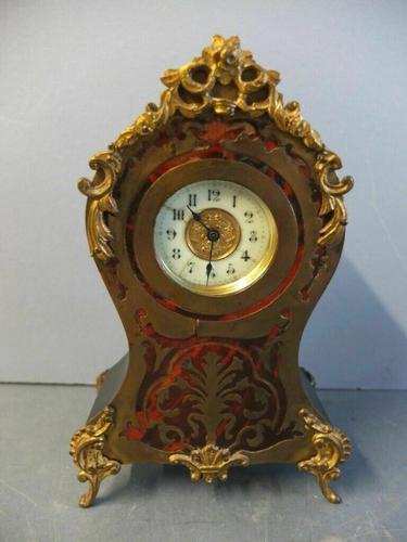Rare Antique Boulle Gilt Clock (1 of 6)