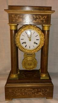 1820s RAre Antique Pendulum Portico Charles X Ormolu Mantel Clock (1 of 3)