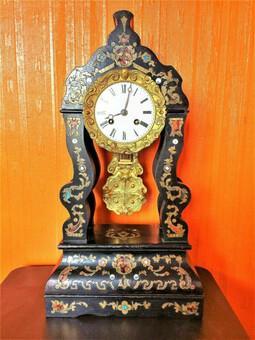 1840s RAre Antique Marti Medaille De Bronze Ebonized Ormolu Boulle Portico Clock (1 of 3)