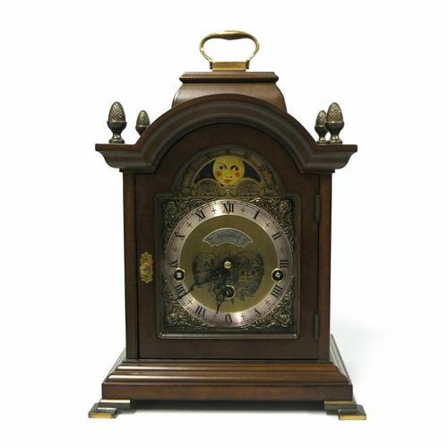 Rare Warmink Franz Hermle 2 Jewel Moonphase Bracket Mantel Clock (1 of 7)