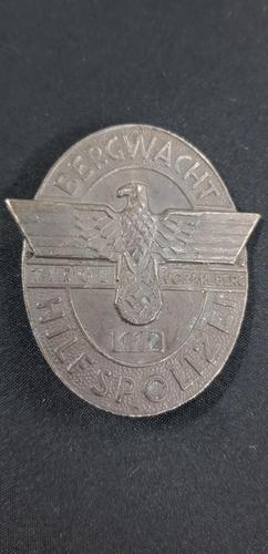 WW2 World War Two Nazi Bergwacht Hilfspolizei Badge (1 of 1)