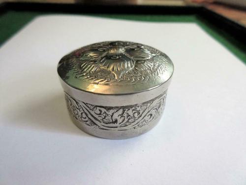 Silver Trinket Pill Snuff Box 1925 (1 of 3)
