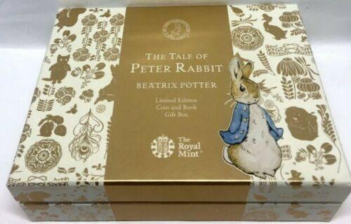 Beatrix Potter the Tale of Peter RAbbit 50P Gold Proof Fifty Pence Coin (1 of 2)