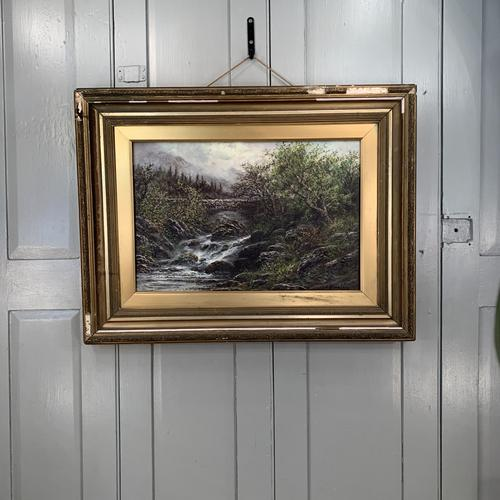 Antique Victorian River Landscape Oil Painting Signed B Stanley (1 of 10)