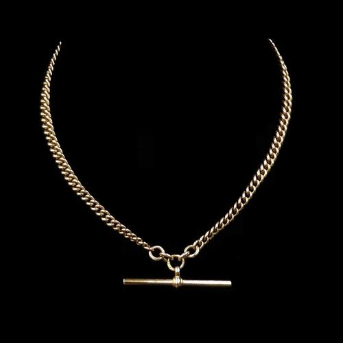 Antique 9ct 9K Gold Short Albert Watch Chain Necklace (1 of 9)