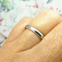 Vintage Art Deco Plain Platinum Wedding Band c1930's ~ Ladies narrow ring size O 1/2 - 7.25 (5 of 9)